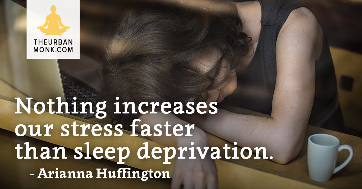 Nothing increases our stress faster than sleep deprivation- @AriannaHuff via @PedramShojai
